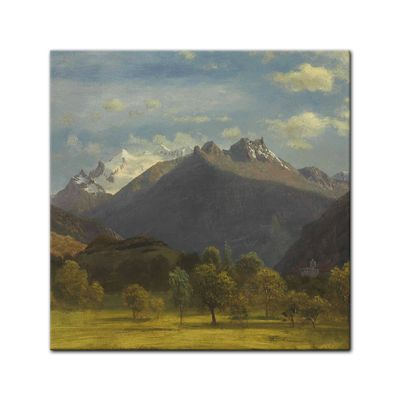 Kunstdruck - Alte Meister - Albert Bierstadt - The Alps from Visp – Bild 4