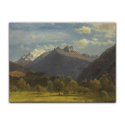 Kunstdruck - Alte Meister - Albert Bierstadt - The Alps from Visp – Bild 2