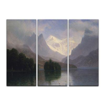 Kunstdruck - Alte Meister - Albert Bierstadt - Mountain Scene – Bild 3