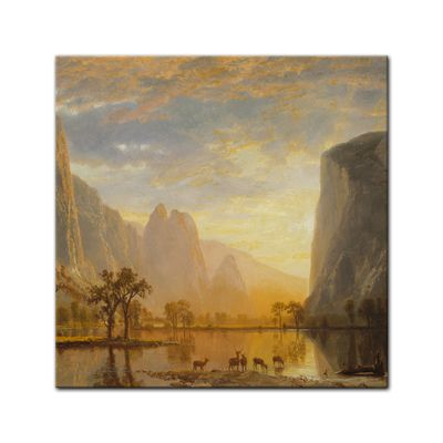 Kunstdruck - Alte Meister - Albert Bierstadt - Valley of the Yosemite – Bild 7