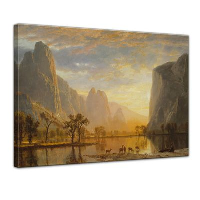 Kunstdruck - Alte Meister - Albert Bierstadt - Valley of the Yosemite – Bild 1