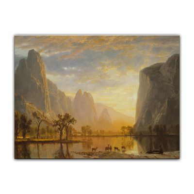 Kunstdruck - Alte Meister - Albert Bierstadt - Valley of the Yosemite – Bild 4