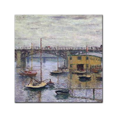 Claude Monet - Brücke bei Argenteuil an einem grauen Tag – Bild 4