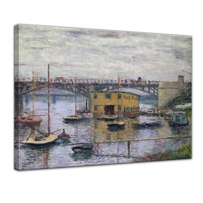 Claude Monet - Brücke bei Argenteuil an einem grauen Tag – Bild 1