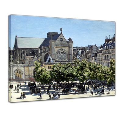 Kunstdruck - Alte Meister - Claude Monet - Saint Germain l'Auxerrois in Paris – Bild 1