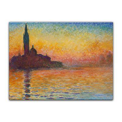 Kunstdruck - Alte Meister - Claude Monet - San Giorgio Maggiore in der Dämmerung – Bild 2