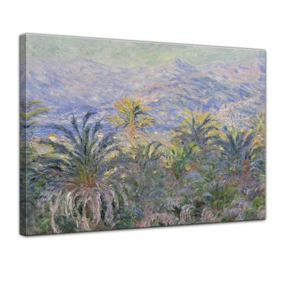 Kunstdruck - Alte Meister - Claude Monet - Palmen in Bordighera – Bild 1