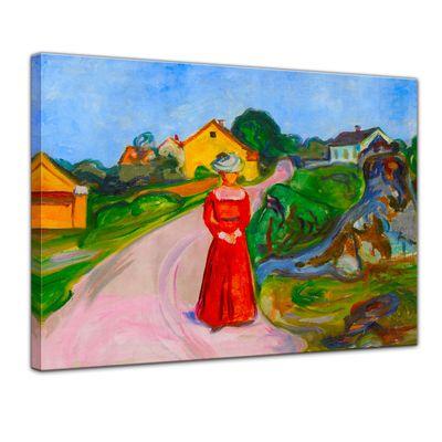 Edvard Munch - Frau in rotem Kleid