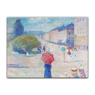 Leinwandbild - Alte Meister - Edvard Munch - Frühling auf der Johan-Karl-Straße – Bild 4