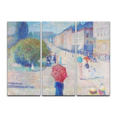 Leinwandbild - Alte Meister - Edvard Munch - Frühling auf der Johan-Karl-Straße – Bild 2