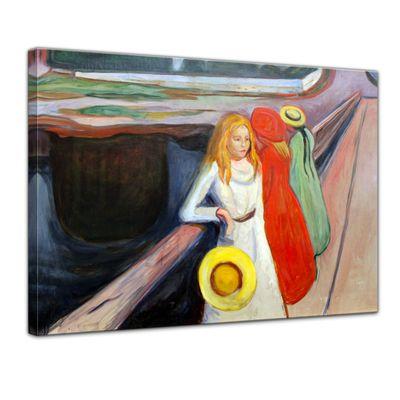 Kunstdruck - Alte Meister - Edvard Munch - Mädchen auf der Brücke I – Bild 1