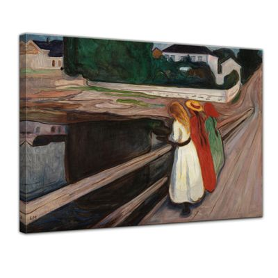 Edvard Munch - Mädchen auf der Brücke II – Bild 1