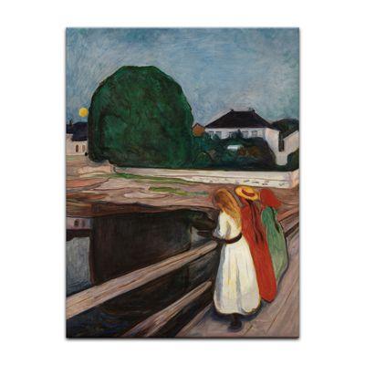Leinwandbild - Alte Meister - Edvard Munch - Mädchen auf der Brücke II – Bild 4