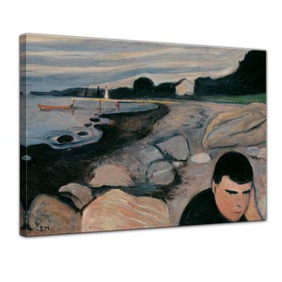 Leinwandbild - Alte Meister - Edvard Munch - Melankoli – Bild 1