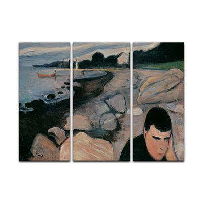 Leinwandbild - Alte Meister - Edvard Munch - Melankoli – Bild 3