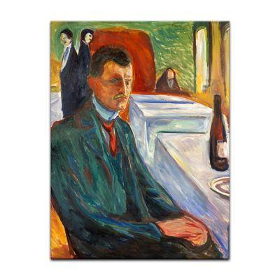 Edvard Munch - Selbstbildnis mit Weinflasche – Bild 4