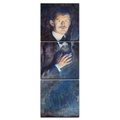 Leinwandbild - Alte Meister - Edvard Munch - Selbstporträt mit Zigarette – Bild 3