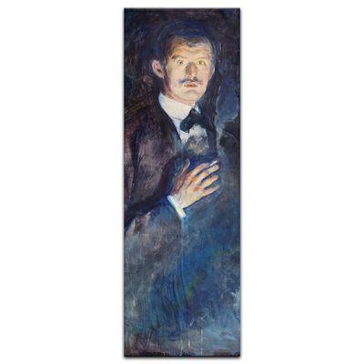 Kunstdruck - Alte Meister - Edvard Munch - Selbstporträt mit Zigarette – Bild 4