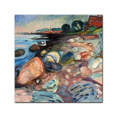Edvard Munch - Shore with Red House - Küste mit rotem Haus – Bild 3