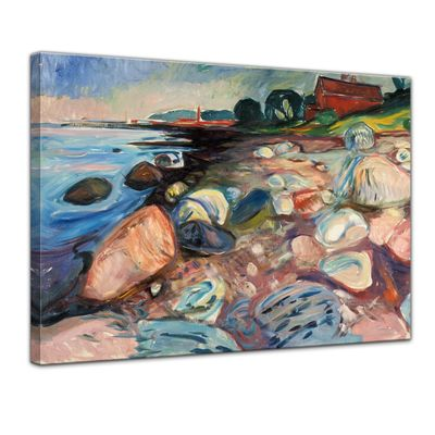 Edvard Munch - Shore with Red House - Küste mit rotem Haus – Bild 1