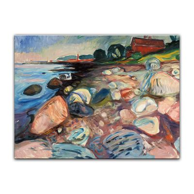 Edvard Munch - Shore with Red House - Küste mit rotem Haus – Bild 2