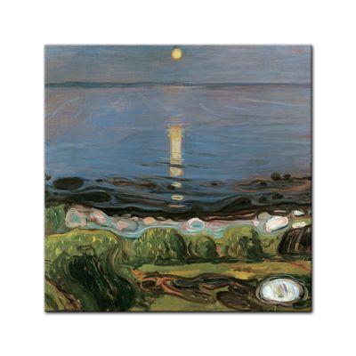 Kunstdruck - Alte Meister - Edvard Munch - Summer night by the beach - Sommernacht am Strand – Bild 6