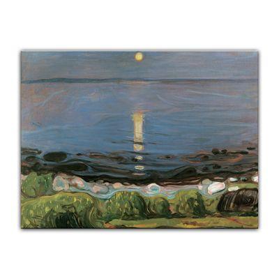 Kunstdruck - Alte Meister - Edvard Munch - Summer night by the beach - Sommernacht am Strand – Bild 2