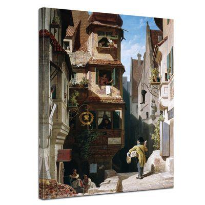 Carl Spitzweg - Der Briefbote im Rosenthal – Bild 1
