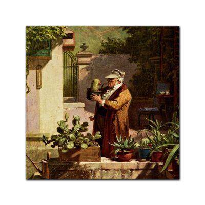 Leinwandbild - Alte Meister - Carl Spitzweg - Der Kaktusfreund – Bild 5