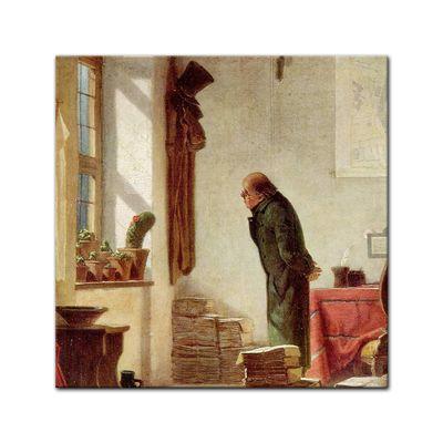 Leinwandbild - Alte Meister - Carl Spitzweg - Der Kaktusliebhaber – Bild 3