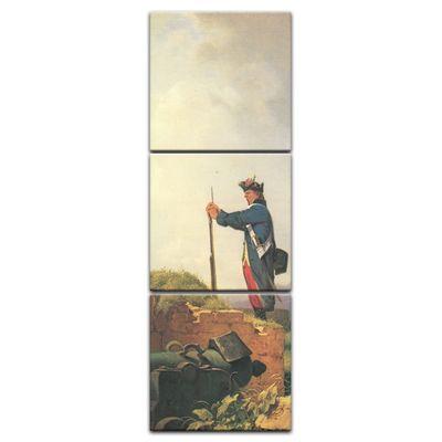 Leinwandbild - Alte Meister - Carl Spitzweg - Gähnende Schildwache – Bild 3