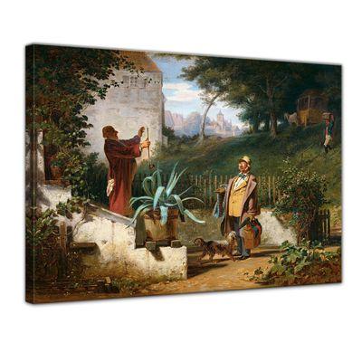 Kunstdruck - Alte Meister - Carl Spitzweg - Jugendfreunde – Bild 1