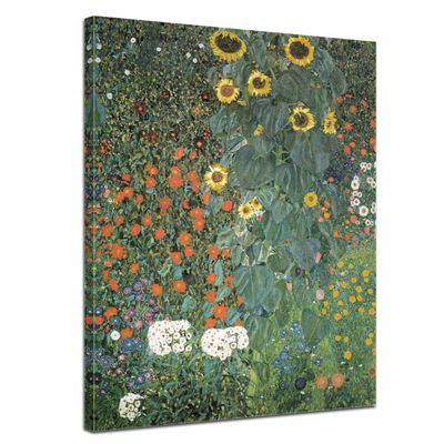 Kunstdruck - Alte Meister - Gustav Klimt - Bauerngarten mit Sonnenblumen – Bild 1