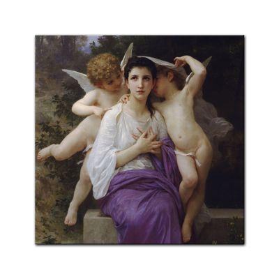 Leinwandbild - Alte Meister - William-Adolphe Bouguereau - Das erwachende Herz – Bild 3