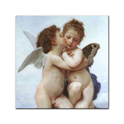 Leinwandbild - Alte Meister - William-Adolphe Bouguereau - Der erste Kuss – Bild 3