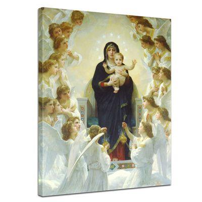 Leinwandbild - Alte Meister - William-Adolphe Bouguereau - Die Jungfrau mit Engel – Bild 1