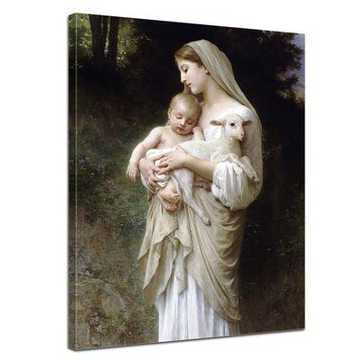 Leinwandbild - Alte Meister - William-Adolphe Bouguereau - Die Unschuld – Bild 1