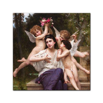 Leinwandbild - Alte Meister - William-Adolphe Bouguereau - Ein Traum vom Frühling – Bild 3