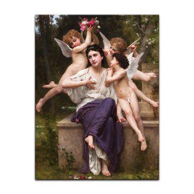 Leinwandbild - Alte Meister - William-Adolphe Bouguereau - Ein Traum vom Frühling – Bild 2