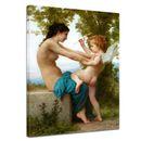 William-Adolphe Bouguereau - Eine junge Frau verteidigt sich vor Eros 001