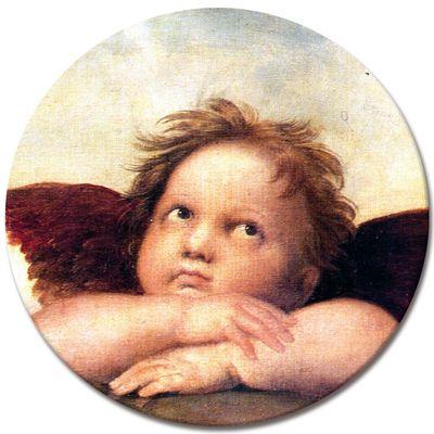 Leinwandbild - Raffael Engel II - Detail Sixtinische Madonna – Bild 4