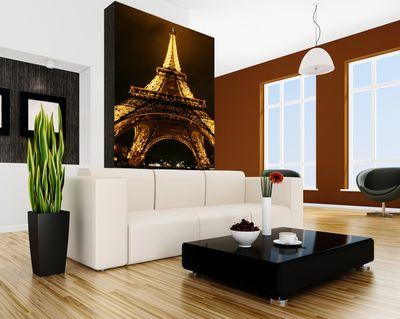 SALE Fototapete Eiffelturm by Night - Paris Frankreich - 65 cm x 100 cm - farbig