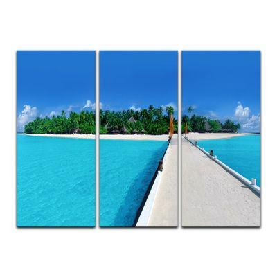 SALE Leinwandbild - Malediven - 90x60 cm 3tlg – Bild 2
