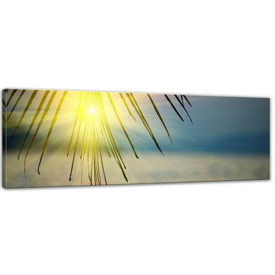 SALE Leinwandbild - Tropischer Sonnenuntergang III - 120x40 cm – Bild 1