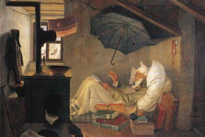 SALE Fototapete Carl Spitzweg - Alte Meister - Der arme Poet - 180 cm x 120 cm - farbig – Bild 2