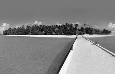 Fototapete - Malediven - 230 cm x 150 cm - schwarz/weiß – Bild 2