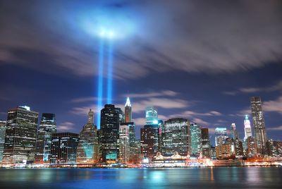 Fototapete New York City (Manhattan) bei Nacht - USA  – Bild 2