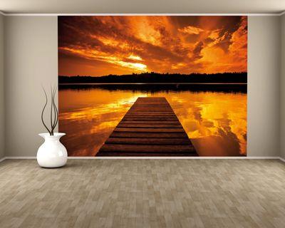 SALE Fototapete Steg - 155 cm x 100 cm - farbig
