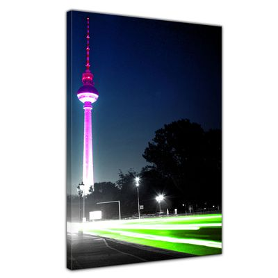 Leinwandbild - Blick auf den Berliner Fernsehturm ( Berlin - Mitte ) – Bild 1