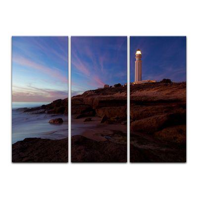 SALE Leinwandbild - Leuchtturm von Trafalgar, Cadiz 150x90 cm 3tlg – Bild 2